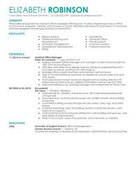 assistant manager resume best admin assistant manager resume exle livecareer