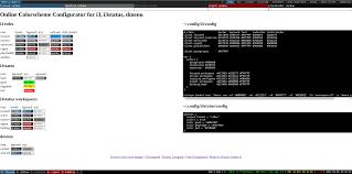 online colorscheme configurator for i3 i3status dmenu thomas