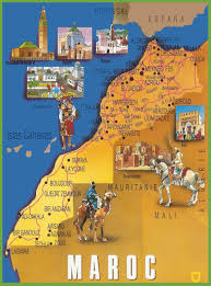 Map Of Morocco And Spain by Morocco Maps Maps Of Morocco