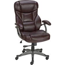 quill osgood bonded leather manager u0027s brown mid back chair quill com