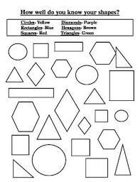 shape recognition worksheet 28 best education images on maths kindergarten math