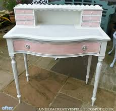 shabby chic white desk hostgarcia
