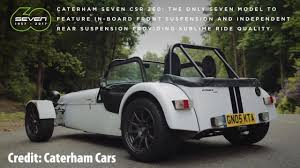 caterham seven iconic cars take a test track spin to celebrate