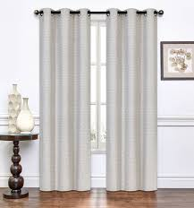 pair of lynette taupe window curtain panels w grommets