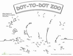 dot to dot zoo 4 u0027s worksheet education com