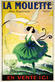 pink martini poster la mouette anis superiore by poster artist raoul vion a vintage