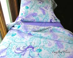 Toddler Girls Bedding Sets by Peacock Girls Bedding Set U0027lavender U0027 Handmade Fleece