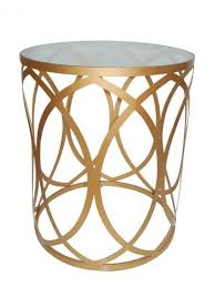 gold metal side table occasional tables interiors online