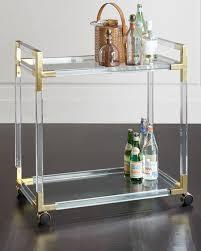 Jonathan Adler Bar Cabinet Jonathan Adler Jacques Acrylic Brass Bar Cart