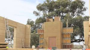 rammed earth construction timelapse youtube