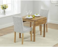 Kitchen Table Close Up Oxford 70cm Solid Oak Extending Dining Table With Mia Fabric