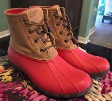 womens sperry duck boots size 9 rubber solid boots rainboots s us size 9 ebay