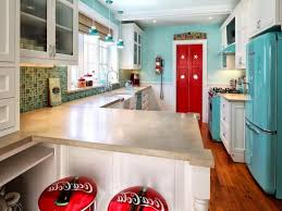 vintage kitchen design red gloss lacquer finish kitchen cabinet
