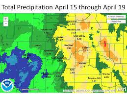 rainfall totals map april 15 19 2016 total precipitation amounts