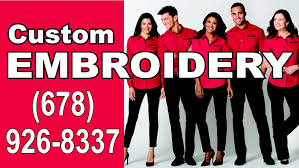 Custom Embroidery Shirts Embroidery Atlanta 678 926 8337 Custom Shirts And Hats Youtube