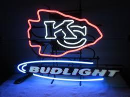 bud light neon light kansas city chiefs bud light neon sign collectible nex tech