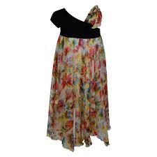 junior gaultier girls black floral print maxi dress junior