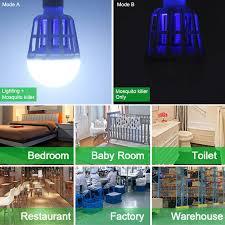 insect killer light bulb 2mode light uv trap electric shock led mosquito killer l bulb