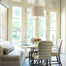 banquette with round table photos hgtv