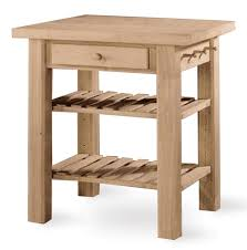 buy wood kitchen island w 2 slat shelves and single drawer
