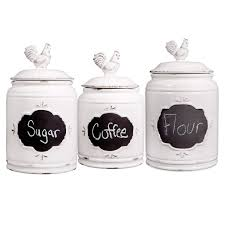 rooster canisters kitchen products ivory rooster canister 3 set at home at home
