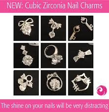 new cubic zirconia nail charms phoenix beauty lounge