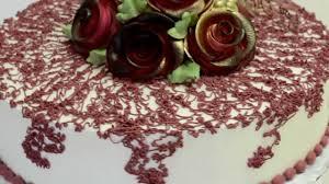 whipped cream flower design cake youtube