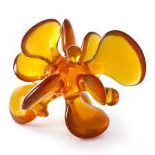 acrylic amoeba orange sculpture modern decor jonathan adler