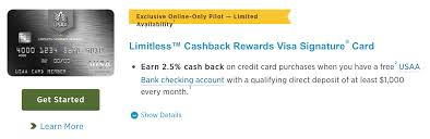 Wells Fargo Invitation Only Credit Card Usaa Limitless 2 5 Available In More States Doctor Of Credit