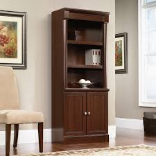 White Barrister Bookcase by Sauder Barrister Bookcase With Glass Doors