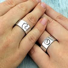 couples rings images Lion and lioness silver band rings lions rings jpg