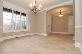 Formal Dining Room With Tile Floors Modern Dining Room - Dining room tile