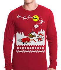 grandma got run over by a reindeer ugly christmas thermal shirt