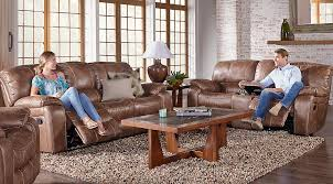 Rooms To Go Living Room Furniture by Cindy Crawford Home Alpen Ridge Tan 7 Pc Reclining Living Room