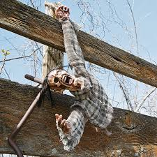 severed hanging torso haunted houses scary decorations and