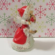 lefton japan christmas angel bell with candle from