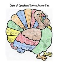 thanksgiving order of operations turkey by carson creations tpt