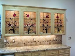 Glass Design For Kitchen Stained Glass Cabinets For Your Kitchen Kitchen Cabinet Color Ideas