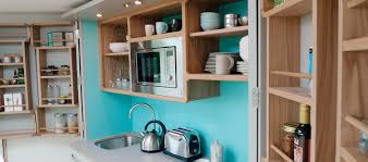 the hivehaus grand kitchenette by culshaw kitchens lancashire uk