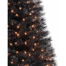 White Christmas Tree With Black Decorations Holiday Time Pre Lit 4 U0027 Indiana Spruce Artificial Christmas Tree