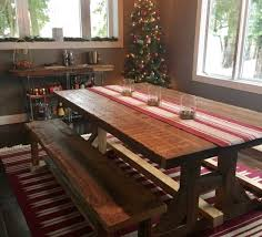 Farm Tables With Benches Orlando Custom Reclaimed Wood Furniture Fama Creations