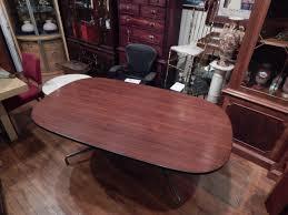 Herman Miller Conference Table Herman Miller Eames Aluminum Group Walnut Conference Table Desk