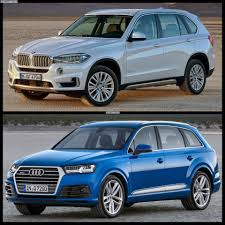 audi suv q7 interior driving comparison 2015 bmw x5 vs 2016 audi q7