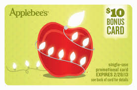 applebee s gift cards applebee s 10 bonus cards a for you a lot for them