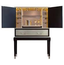 Espresso Bar Cabinet Regency Espresso Silver Leaf Illuminated Bar