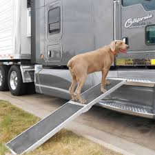 dog hunting truck folding aluminum dog ramp for trucks and suvs discount ramps