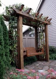 Arbor Ideas Backyard Arbor With Swing Wood Projects Pinterest Arbors Swings And