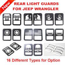 jeep wrangler brake light cover black red steel tail light guards covers for jeep wrangler jk
