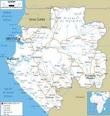 gabon in world map gabon road map mappery