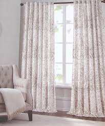 Curtains White And Grey Tahari Home Window Curtains Panels Damask Paisley